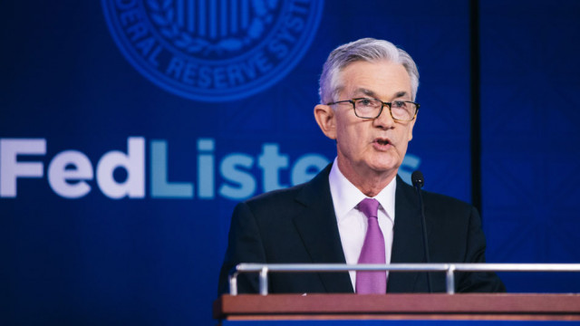 US-Notenbankchef Jerome Powell an einer «Fed Listens»-Konferenz.